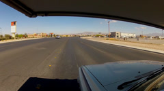 POV RV Driving Main Street In Pahrump, NV- Wide Angle Stock Footage