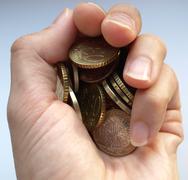 Stock Photo of Euro coins