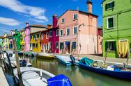 Stock Photo of burano village near venise