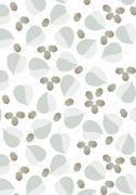 Stock Illustration of Leaves and hazelnut on white background