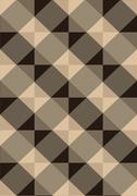 Stock Illustration of Striped brown rhombuses on light seamless background