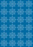 Blue seamless background with white snowflakes - stock illustration