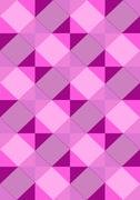 Striped purple rhombuses on a light seamless background - stock illustration