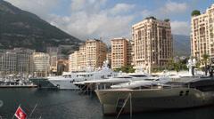 Monaco Apartments - Port Hercule Stock Footage