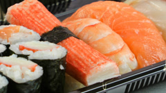 Sushi Food - stock footage