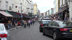 Sunday crowds on Portobello Road Stock Footage