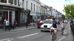 Pembridge Road near Notting Hill Gate Station Stock Footage