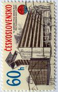 Czech stamps Stock Photos