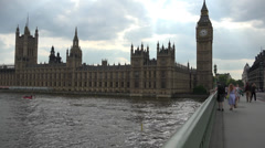 Palace of Westminster with sun and cloud Stock Footage