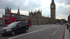 Houses of Parliament from Westminster Bridge Stock Footage