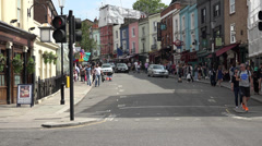 Corner of Westbourne Grove and Portobello Road Stock Footage