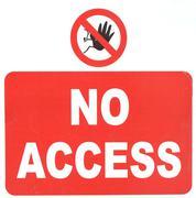 No access sign Stock Photos