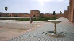 El Badi Palace, Marrakech, Morocco - stock footage