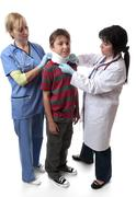 Injury medical neck brace Stock Photos
