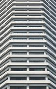white high hotel tower riverside - stock photo