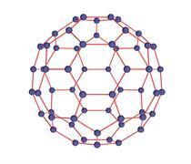 Model of molecule fulleren - stock illustration