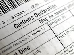 Stock Photo of Customs declaration