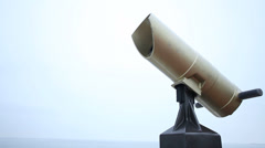 Tourist binoculars to observe the sea. Full HD with motorized slider. 1080p. - stock footage