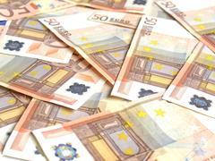 Euro bankonotes background - stock photo