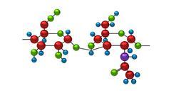 Molecule of hyaluron Stock Illustration