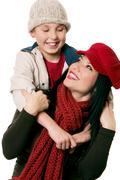 Fun with mum - stock photo
