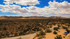 Day Clouds Timelapse over Joshua Tree Desert Park Stock Footage