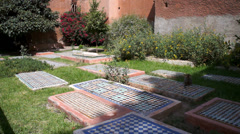 Morocco, Marrakech, Saadian Tombs Stock Footage