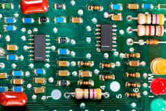 Dual timing circuit operational amplifier Stock Photos