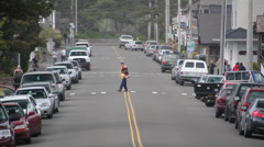 Street shot of Cannon Beach Oregon 2 Stock Footage