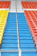 empty seats at stadium - stock photo