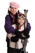 Ready for the ski season - stock photo