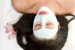 woman with a Facial Mask - stock photo