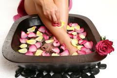 Relaxing Foot spa Stock Photos