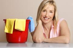 Female housework or clean up - stock photo