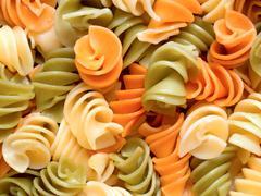 fusilli pasta salad - stock photo