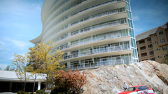 Two Shutters Condos, Waterfall, Vancouver Island Stock Footage