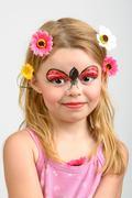 Face painting, ladybug Stock Photos
