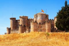 Mudejar castle in Belmonte Stock Photos