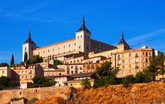 Stock Photo of Alcazar of Toledo in sunny summer day