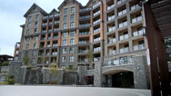 Stock Video Footage of Bear Mountain Condominiums, Vancouver Island