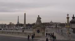Paris - France - Place de la Concorde - HD Stock Footage