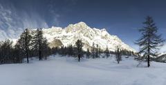 Mont Blanc, Aosta Vallley - Italy - stock photo