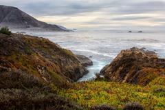 Garrapata State Beach Ocean Waves Stock Photos