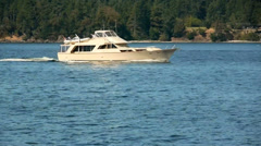 Steady Shot of Speeding Boat Stock Footage