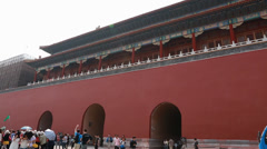Inside the gates of the forbidden city palace in beijing china Stock Footage