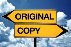 Oroiginal or copy - stock photo