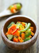 indian vegetable medley - stock photo