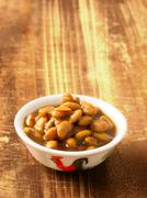 Salted fermented soy beans Stock Photos