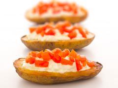 potato skins - stock photo