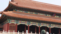 Buildings inside the  ancient forbidden city palace beijing china Stock Footage